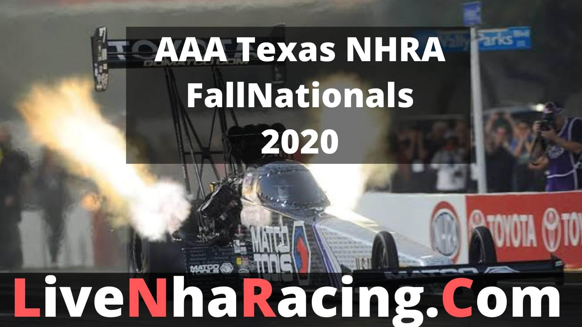 AAA Texas NHRA FallNationals- Finals Live Stream
