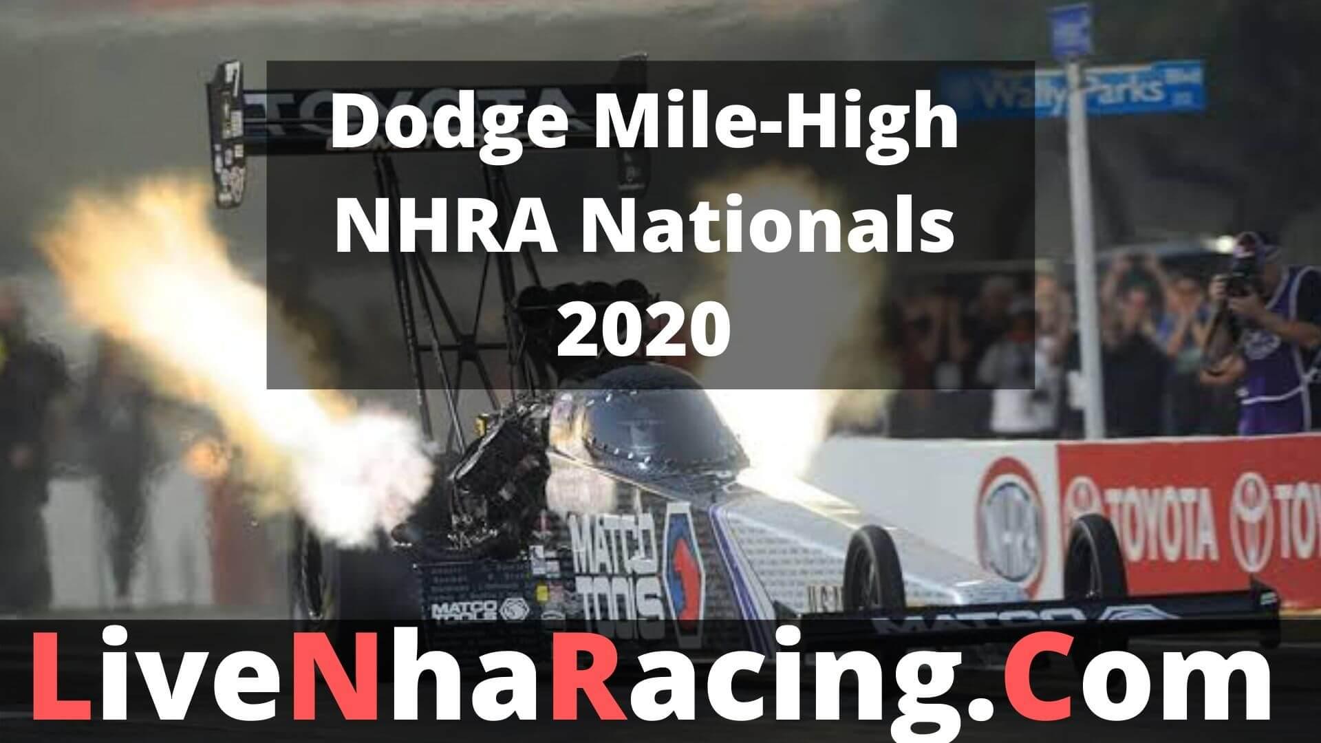 Dodge Mile-High NHRA Nationals - Finals Live Stream