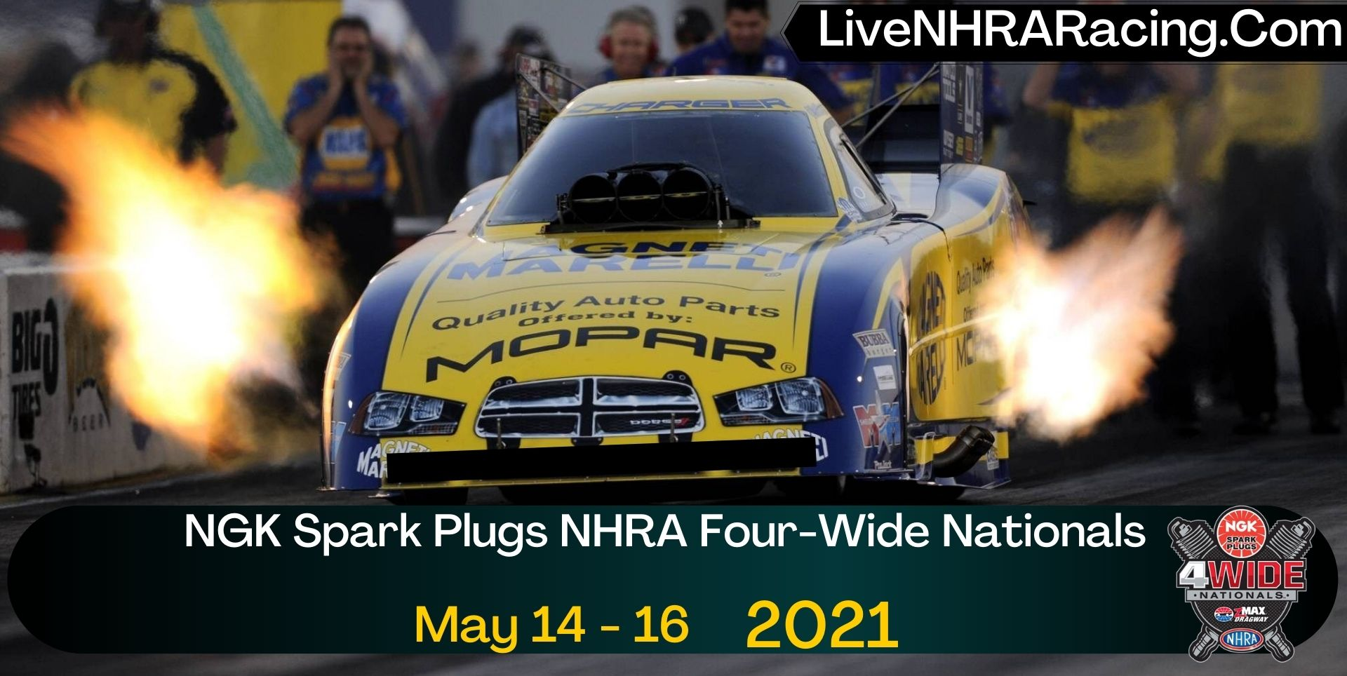 NGK Spark Plugs NHRA Four-Wide Nationals Live Stream 2021