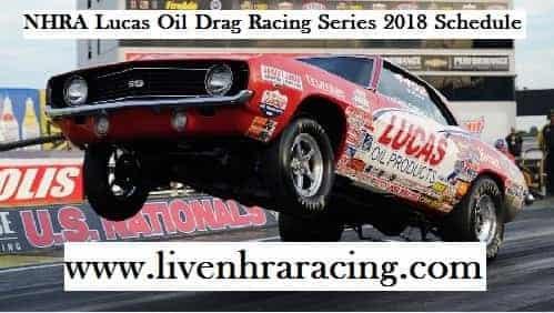 2018 NHRA Lucas Oil Drag Racing Series Fixture
