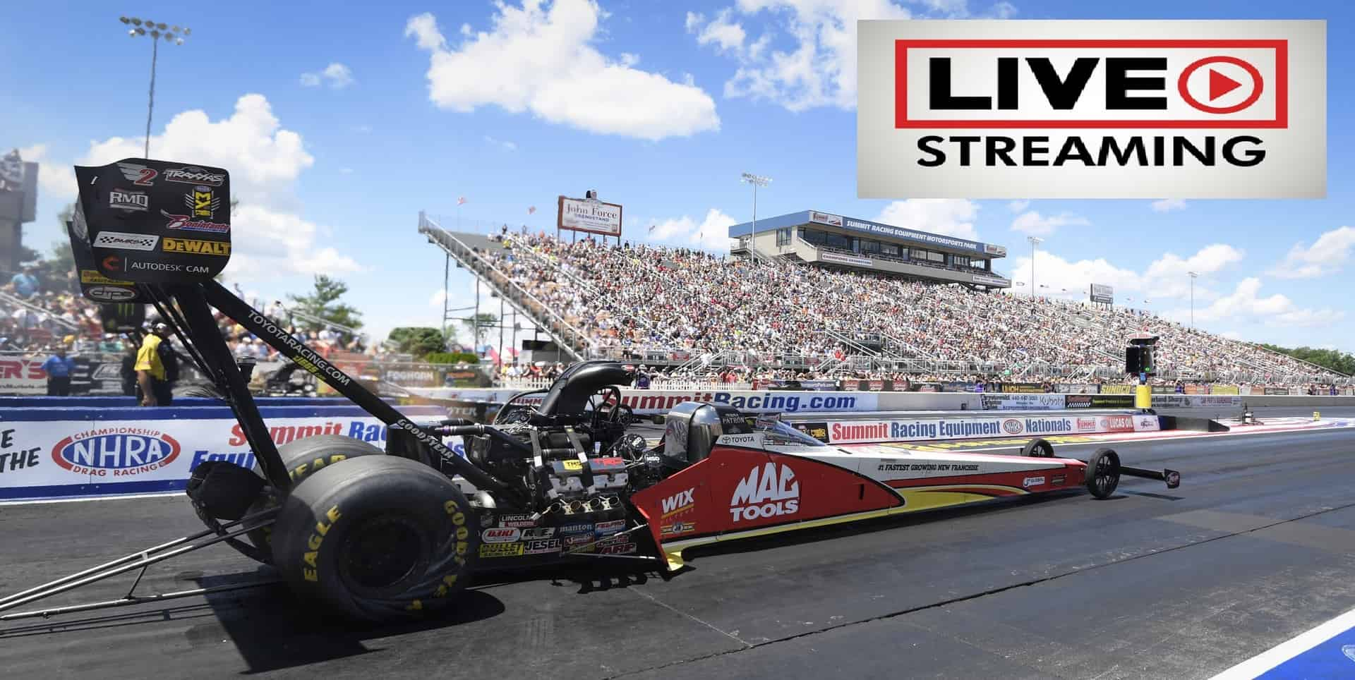 NHRA Four Wide Nationals Online Broadcast